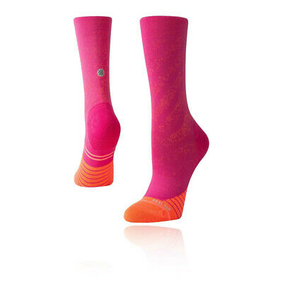 Stance Mujer Uncommon Run Crew Calcetines - Rosa Deporte Correr Transpirable