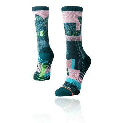 Stance Mujer Painted Lady Crew Calcetines - Verde Rosa Deporte Gimnasio