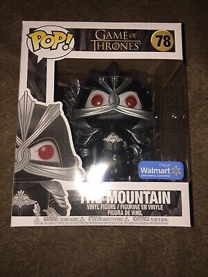 "Funko PoP! Game of Thrones 6"" The Mountain #78 Masked Walmart Exclusive NEW!"