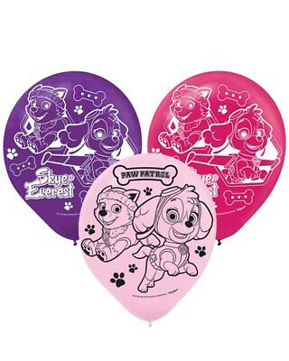 Paw Patrol Girls Latex Balloons Pack Of 6 12inch One Size