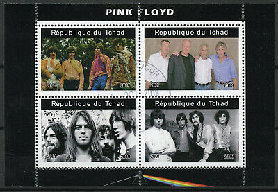 Chad 2019 CTO Pink Floyd 4v M/S II Music Famous Musicians Stamps