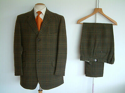 """TWEED SUIT BY PYTCHLEY..42"""" x 36""""..MADE IN ENGLAND..CHECK..HEAVYWEIGHT CLOTH"""