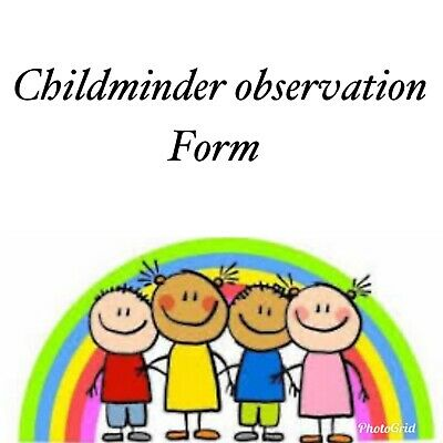 Childminder Observation Sheet