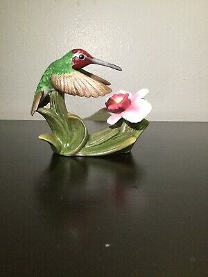 Bronson Collectibles Anna's Hummingbird Bird With Orchid 1996