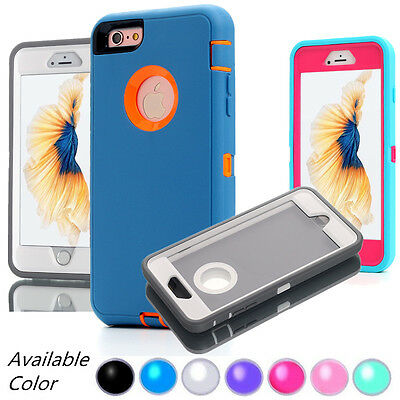 Protective Hybrid Shockproof Hard Armor For iPhone 7 8 Plus XS MAX XR Case Cover