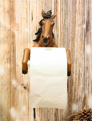 Western Rustic Brown Horse Toilet Paper Holder Bathroom Wall Decor