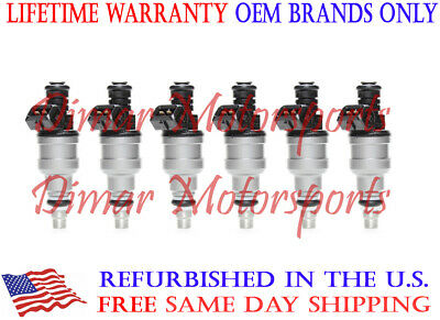 Genuine Bosch 6 Fuel Injectors For 1988-1989-1990-1991 Pontiac Bonneville 3.8L