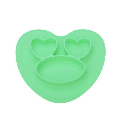 Silicone Home Compartment Integrated Feeding Tray Children Plate With Suction