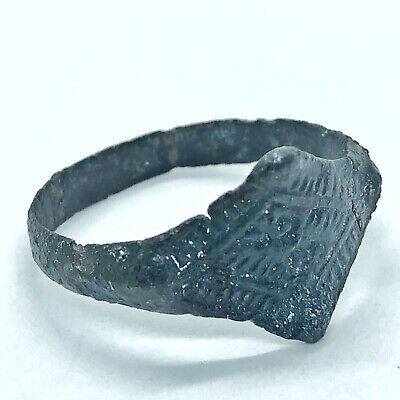 Ancient Or Medieval Brass Ring European Metal Detector Find Artifact Antique A