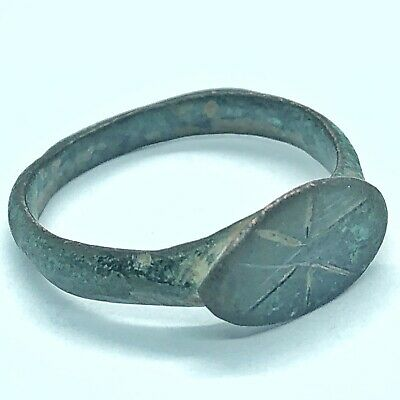 Ancient Or Medieval Brass Ring European Metal Detector Find Artifact Antique B