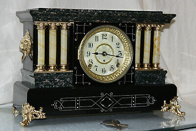 ANTIQUE SETH THOMAS SHELF MANTLE CLOCK-Totally!!-Restored- c/1900-UNLISTED No.1