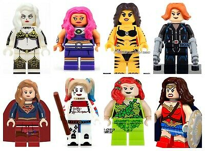 Female Super Heroes / Superhero Building Blocks Mini figure Kids Toy fit lego