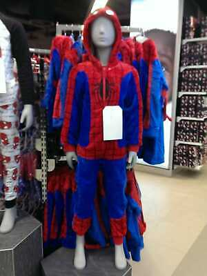 Primark Kids Boys/Girls Spider Man All in one Sleepsuit Pyjamas Sleepwear