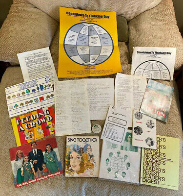Vintage Girl Scout Leader Papers: guides, activities, songs, how-to, ceremonies