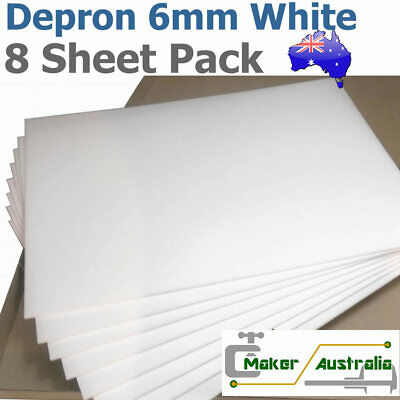 Depron Foam Large Sheets Pack - 6mm White 70cm x 50cm (box of eight sheets)