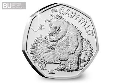 2019 Christmas Gruffalo & Mouse CERTIFIED Brilliant Uncirculated 50p Coin BU