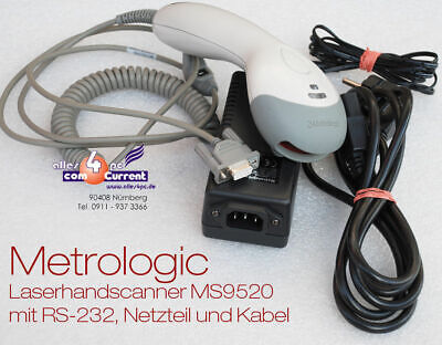 Laser Barcode Scanner Metrologic MS-9520 MS9520 RS-232 RS232 / Ltpn Serial