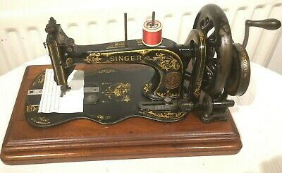 1885 Antique Singer 12k New Family Fiddle base Hand Crank Sewing Machine