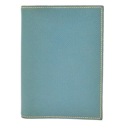 Authentic Hermes Agenda PM Couchevel Leather Organizer Planner Note Case Blue