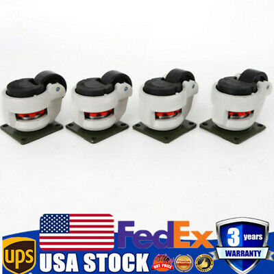 4 Pack Leveling Casters GD-40F Plate Mounted Footmaster Leveling Caster