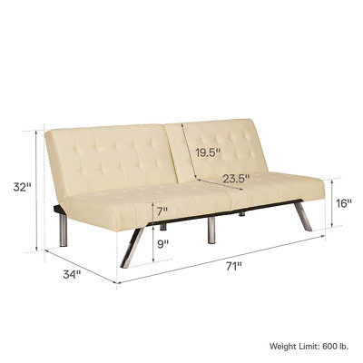 Swell Dhp Sofas Couches Emily Convertible Linen Futon Living Room Ibusinesslaw Wood Chair Design Ideas Ibusinesslaworg