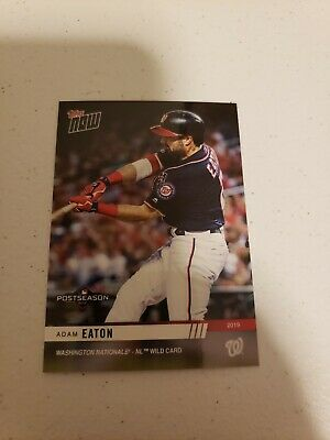 Adam Eaton 2019 Topps Now MLB Postseason #PS-86 SP /312 WASHINGTON NATIONALS