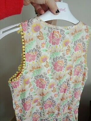 Young Hearts By Collette Dinnigan Girls Shortie Playsuit Sz 10