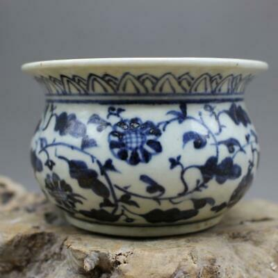 Chinese ancient antique hand make Blue and white Porcelain decoration V3