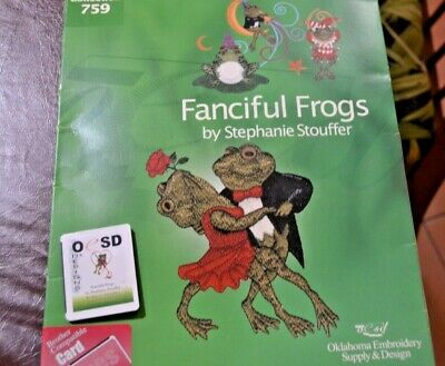 Brother Embroidery Card Fanciful Frogs