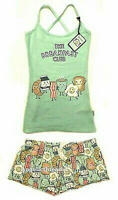 Primark Ladies Girls Cami Vest & Shorts PJ Set Pyjama Summer Cotton Nightwear