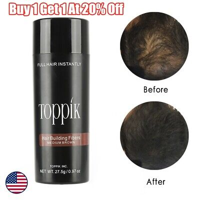 TOPPIK Hair Loss Building Fiber 27.5 g Black Dark Medium Light Brown BIG SALE!