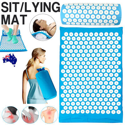 Acupressure Massage Yoga Mat w/ Pillow Stress Pain Tension Relief Body Relax AU