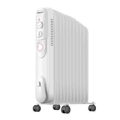 Famgizmo 3000W 11 Fin Oil Filled Radiator Electric Heater + timer