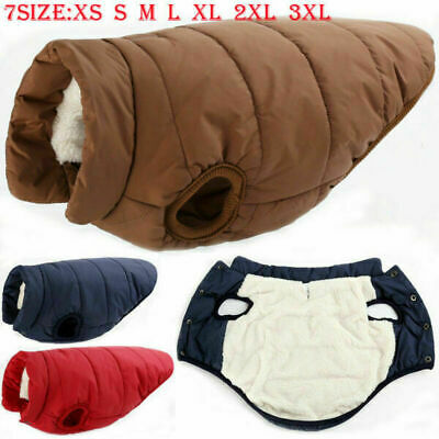 US STOCK Winter Warm Padded Dog Clothes Waterproof Coats Vest for Dogs 7 Size