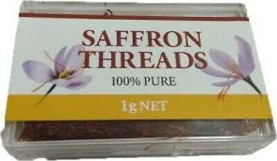 PURE SAFFRON THREADS 1G x 5 packets - FREE POST
