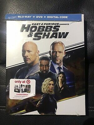 Hobbs & Shaw Target Exclusive (Bluray+DVD+Digital) Brand New