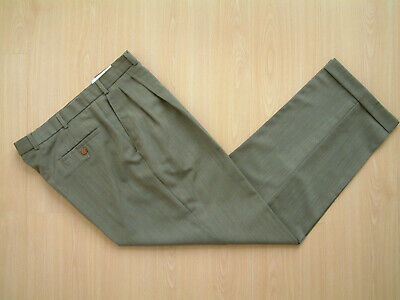 "1940's STYLE TROUSERS..36""..TWIN PLEATS..PERMANENT TURN-UP'S..CHECK..GOODWOOD"
