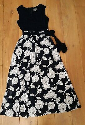 Phase EIGHT maxi Floral Dress With Belt Size 12