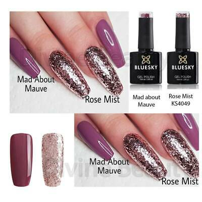 Bluesky Duo Mad About Mauve & Rose Mist UV/LED Soak Off Nail Gel Polish 10ml