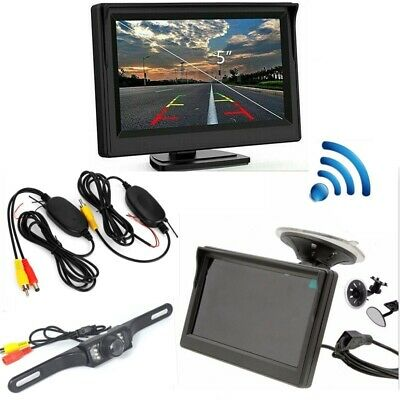 Wireless Car Rear View Kit + 5'' LCD Monitor + LED Night Vision Reversing Camera