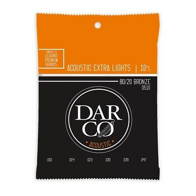 Darco by Martin 80/20 Bronze Acoustic Guitar Strings - Extra Light 10-47