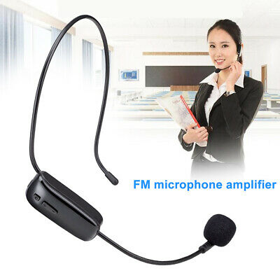 Wireless Headset Microphone Hands-Free Teaching Mic Voice Amplifier Rechargeable