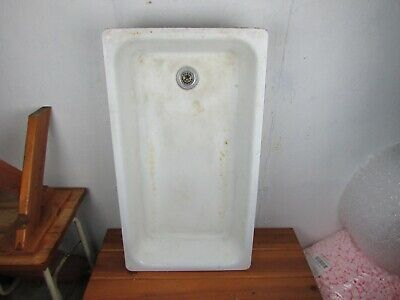 "Farm Sink Vintage 1940s Cast Iron Porcelain Enamel  36"" x 20""x 5/12"" deep Great!"