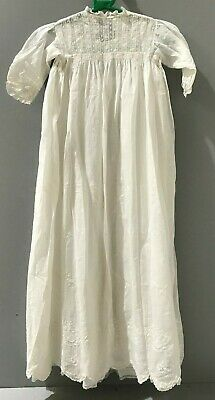 Vintage Cream Ivory Hand Made Baby's Christening Gown 9-12Months (R/11)KW