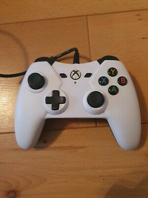Microsoft Xbox One Powera White Wired Controller 1428130-01 Faulty Spares Repair