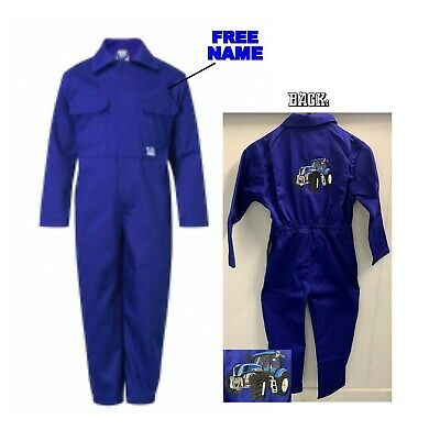 Kids New Holland Tractor Logo Junior Coverall Overall Boilersuit New Holland new