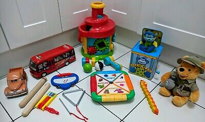Baby Toddler Toys Bundle includes Instruments/ battery powered & learning toys