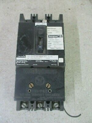 Westinghouse 3 Pole Breaker 15-100Amp #1101329Dw Used