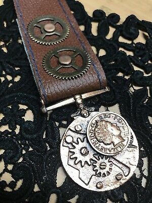 Steampunk Medals Cog Mechanical Copper Medal Badge Back Brooch Pin