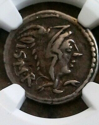 Roman Republic L. Thorius Balbus Denarius NGC VF Ancient Silver Coin